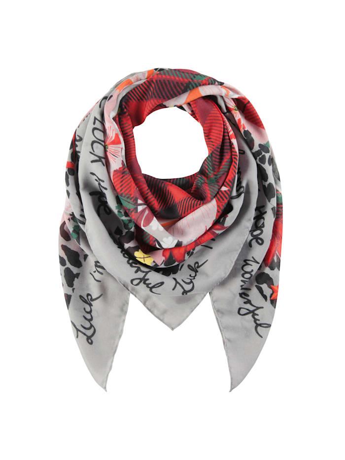 Codello Karo-Tuch im Mustermix aus recyceltem Polyester, red