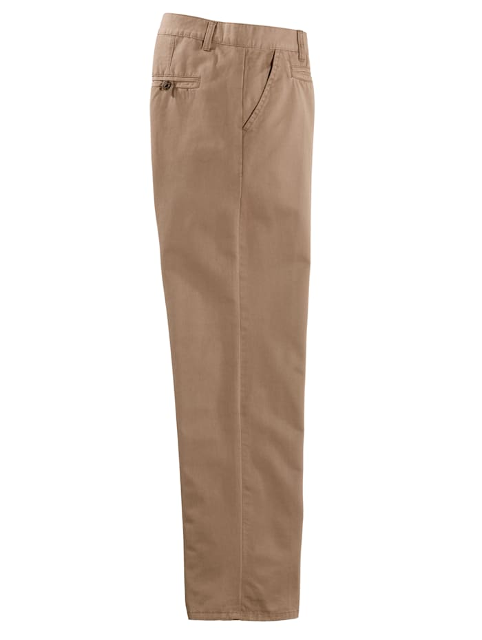 Flatfronthose in Baumwoll-Qualität