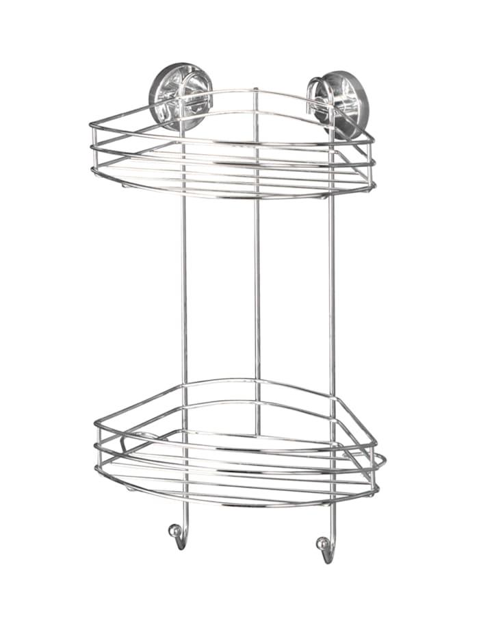 Wenko Vacuum-Loc® Eckregal 2 Etagen, Befestigen ohne bohren, Chrom