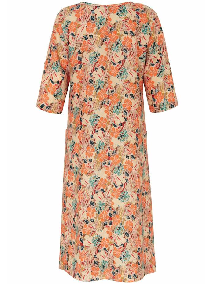 Abendkleid Kleid mit 3/4-Arm in A-Form aus 100% Leinen