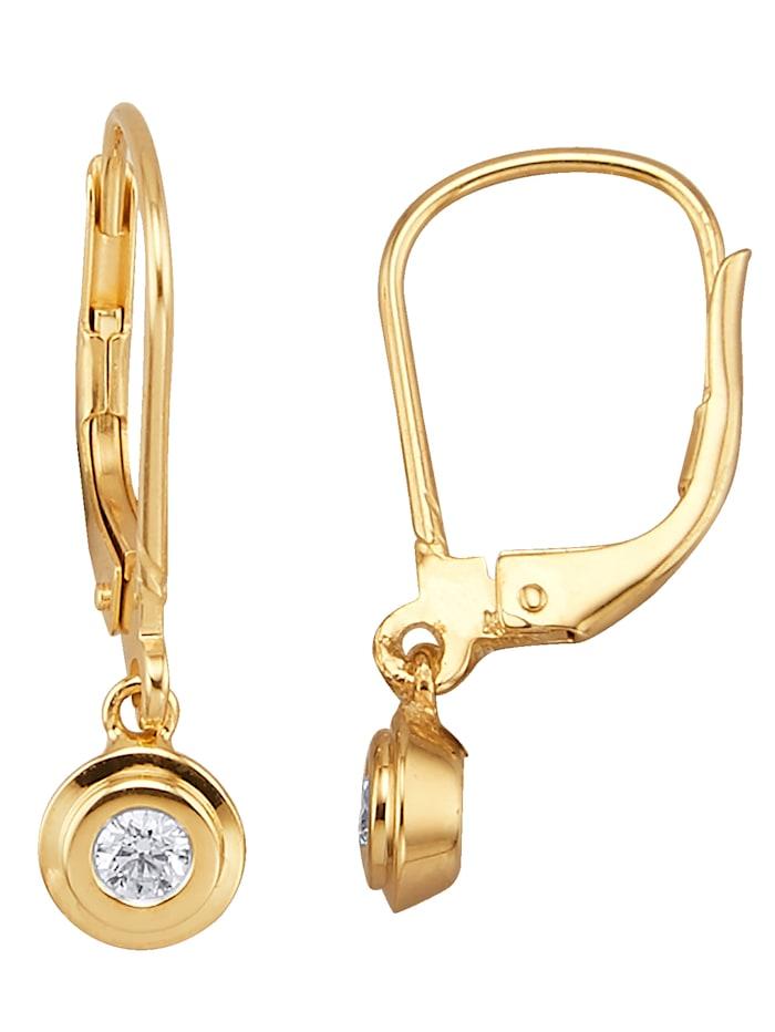 Diemer Highlights Ohrringe mit Brillant, Gelbgoldfarben