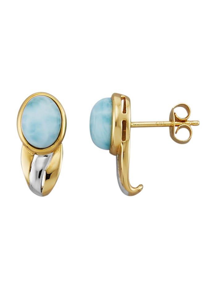 Amara Pierres colorées Boucles d'oreilles avec larimar, Turquoise