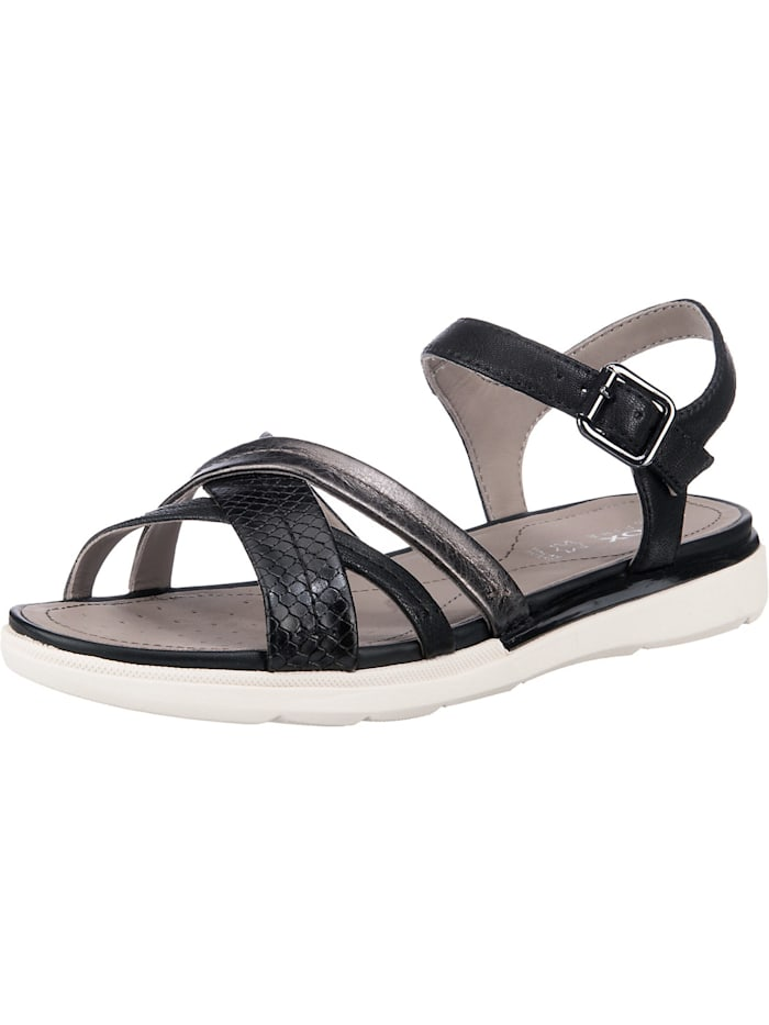 Geox Sandal Hiver Klassische Sandalen, schwarz