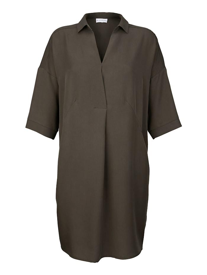 Alba Moda Kleid in lässig fallender Form, Khaki