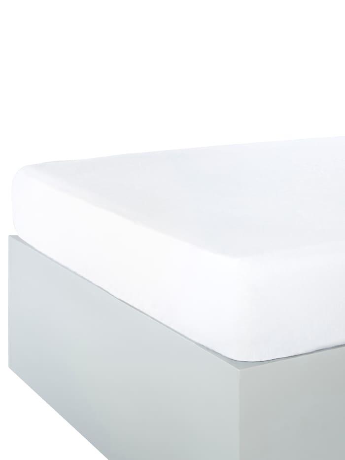 Webschatz Drap-housse flanelle à finition Sanfor, Blanc