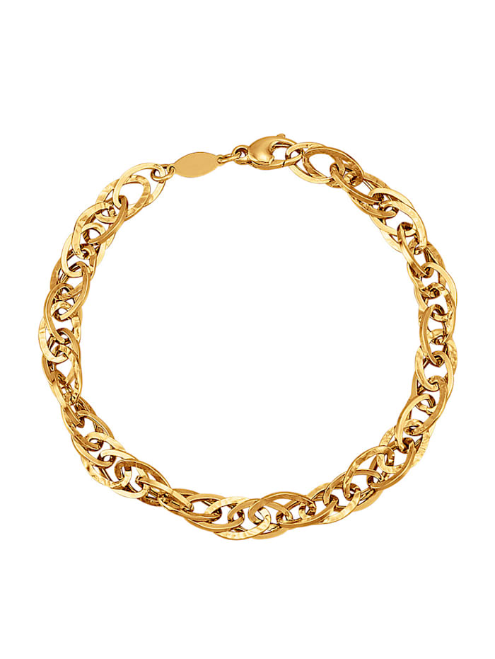 Diemer Gold Doppelankerarmband in Gelbgold 585, Gelbgoldfarben