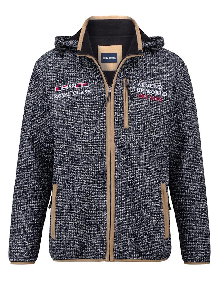 BABISTA Fleece vest met warme fleece voering, Blauw