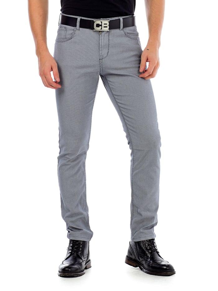 Cipo & Baxx Stoffhose im modischen Slim Fit-Schnitt, Grey