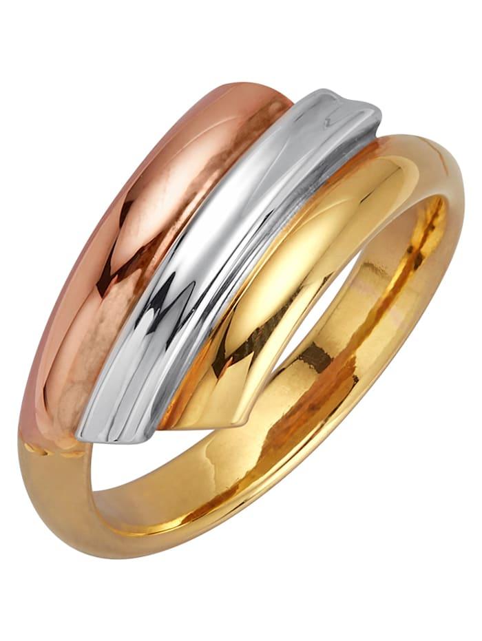 Diemer Highlights Ring, Guldfärgad/Vitguldfärgad/Roséguldfärgad