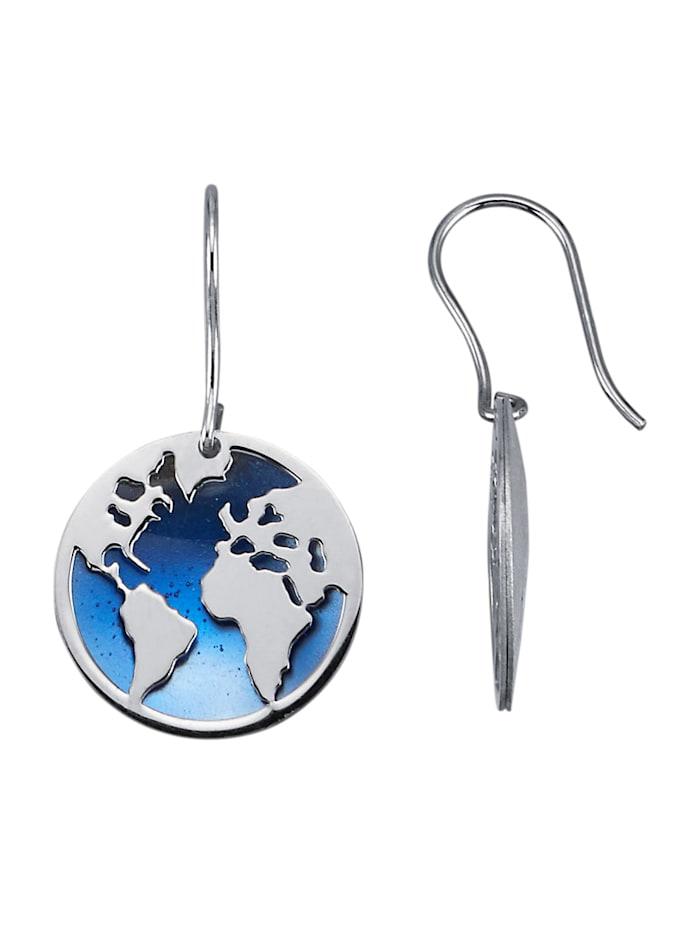 KLiNGEL Ohrringe mit Emaillen mit Emaillen, Blau
