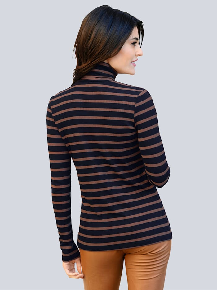 Colshirt van comfortabele, elastische jersey