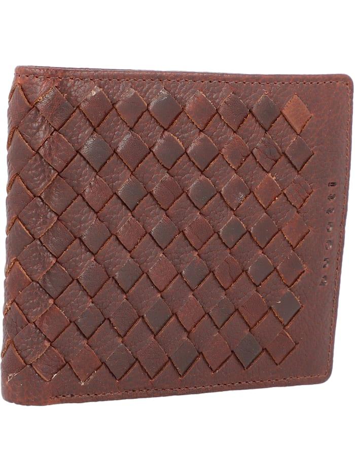 Woven Geldbörse Leder 12 cm