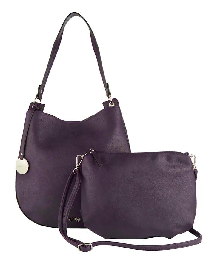 Taschenherz Shopper 2-tlg. mit abnehmbaren Taschenherz-Anhänger 2-teilig, Lila