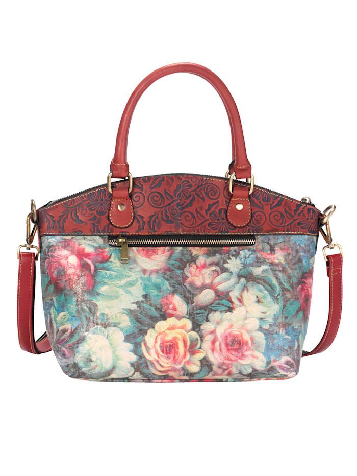 Kukkakuvioitu käsilaukku