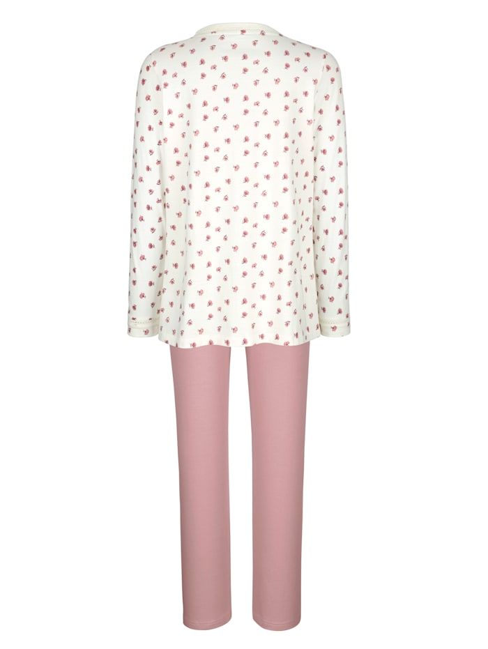 Pyjamas par lot de 2 à ravissant contraste et imprimé fleuri