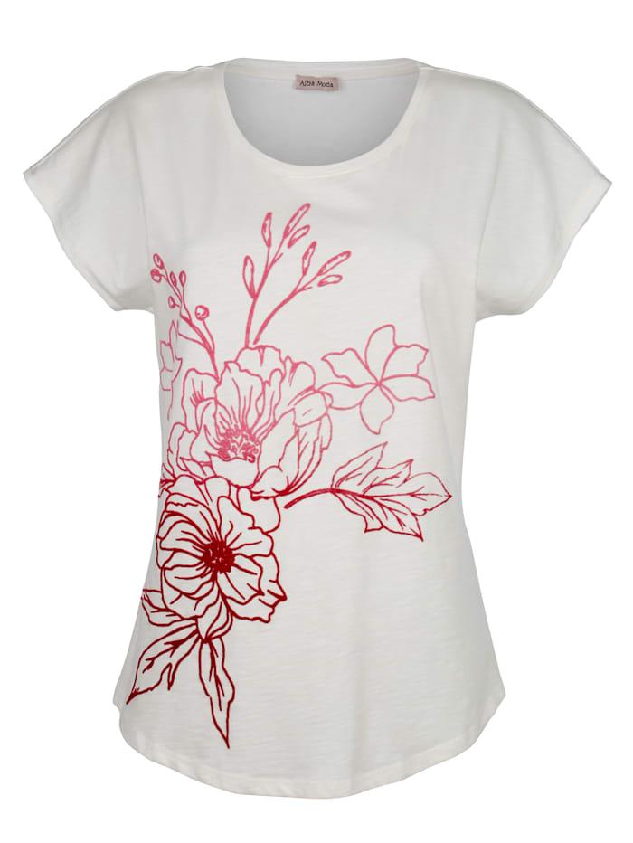 Strandshirt mit Flockprintmotiv