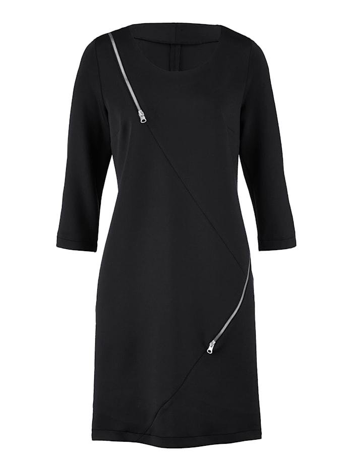 Kleid mit dekorativen Zippern