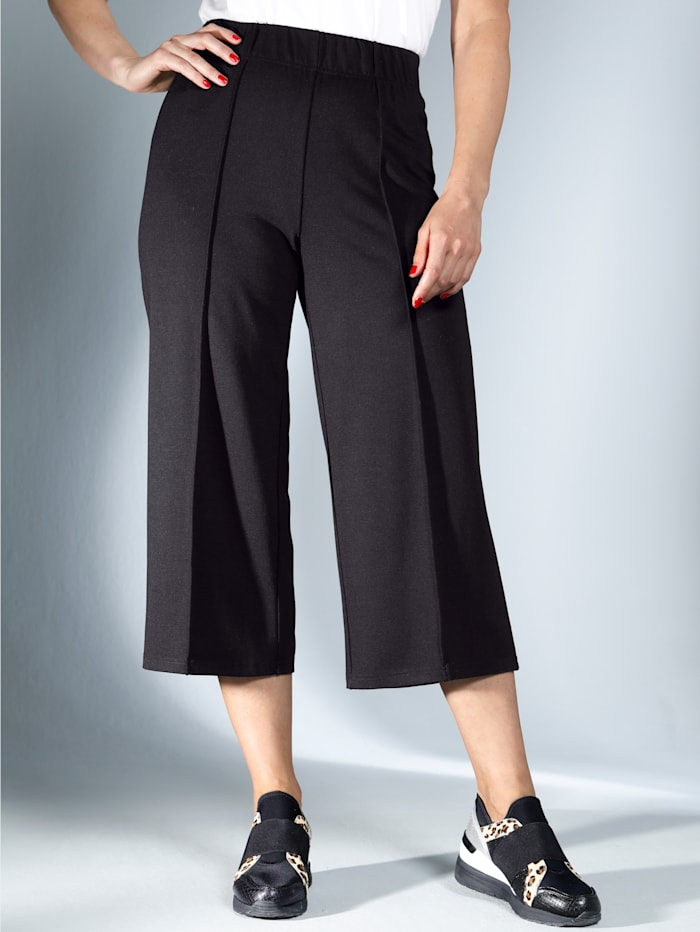 MIAMODA Jupe-culotte de coupe large tendance, Noir
