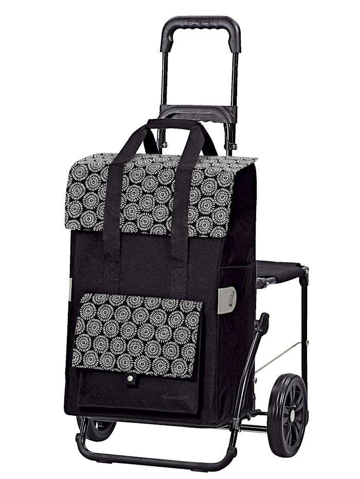 Andersen Chariot de couses Komfort Vara, Noir/noir