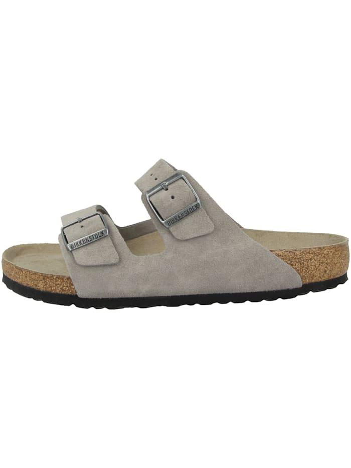 Birkenstock Sandale Arizona SFB Veloursleder Weichbettung normal, grau
