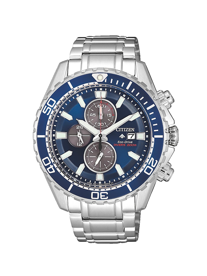 Citizen Herrenuhr-Chronograph, Eco-Drive CA0710-82L, Silberfarben