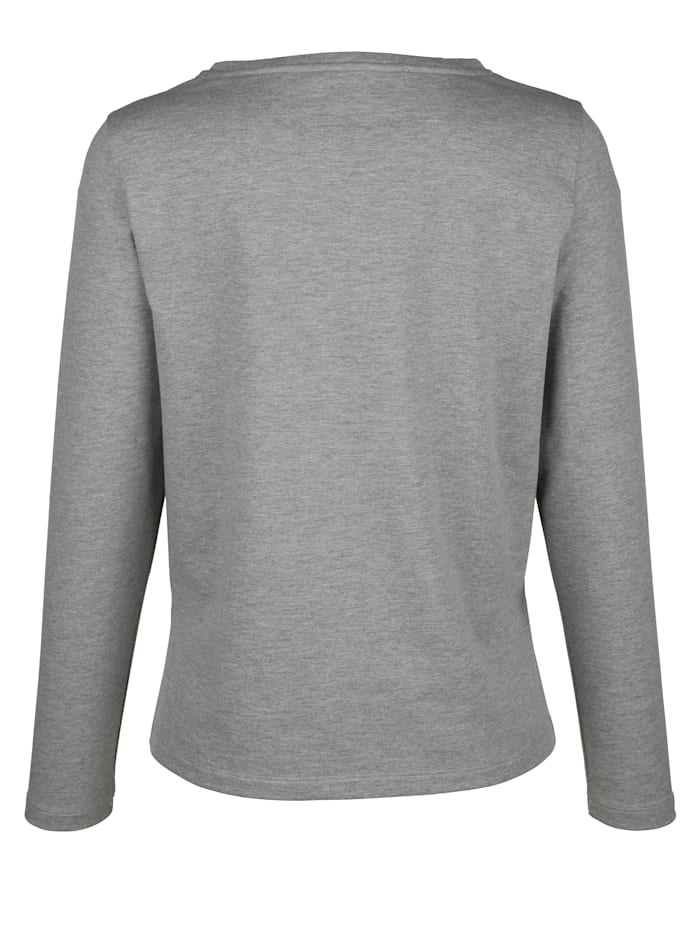 Sweat-shirt à bande reps contrastante devant