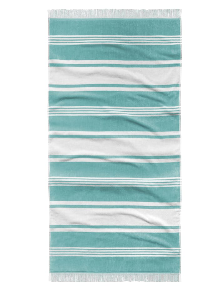 Tom Tailor Serviette en velours, aqua