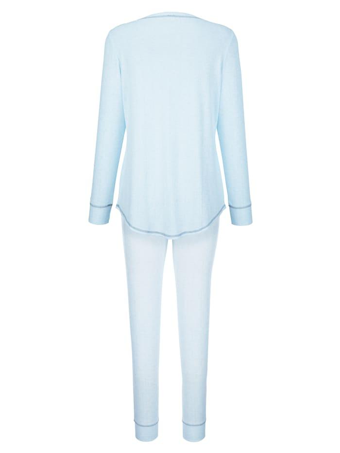 Pyžama s módnym kontrastným šitím
