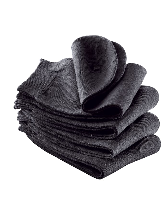 KLiNGEL Lot de 4 paires de chaussettes femme remaillées à la main, Noir