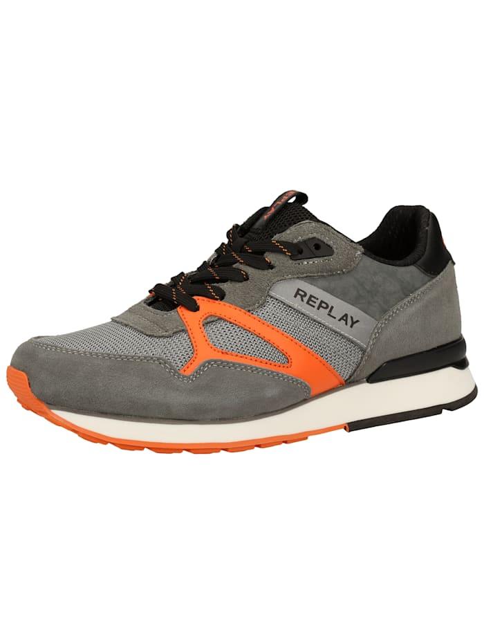 REPLAY REPLAY Sneaker, Grau/Orange