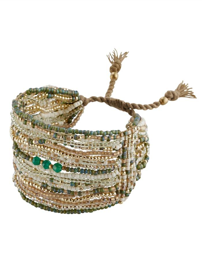 A Beautiful Story Armband mehrreihig, Grün