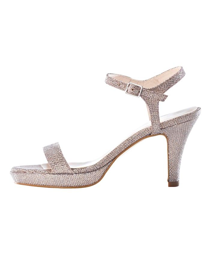 Sandaaltje in fonkelende lurexlook