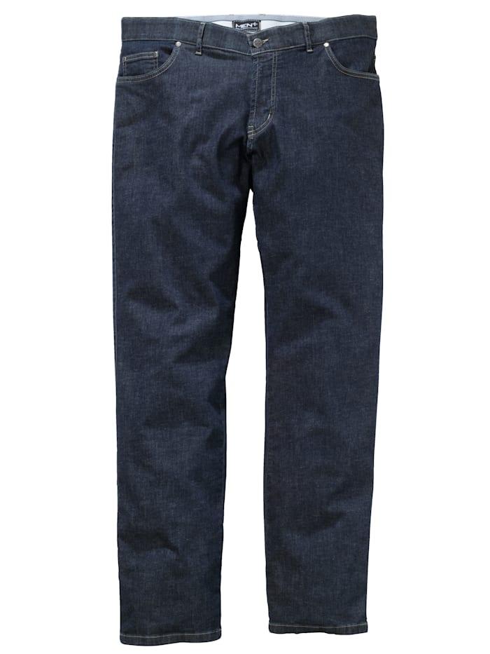 Men Plus Jeans med resår och extra plats för magen, Dark blue
