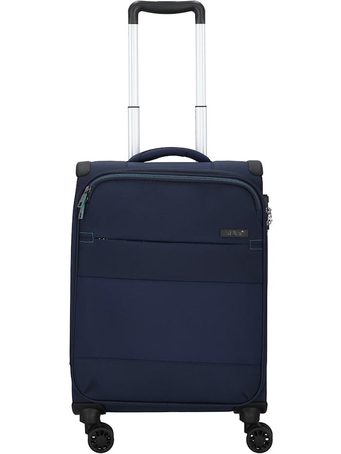 D&N Travel Line 9004 4-Rollen Kabinentrolley 55 cm, blau