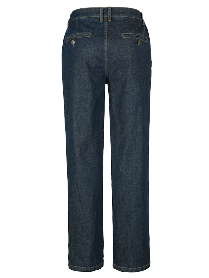 Jeans med komfortresår i sidan