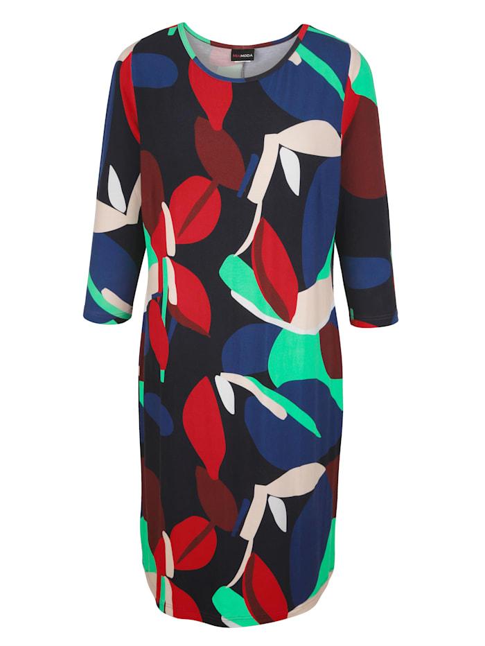 MIAMODA Šaty v žerzej kvalitě, Multicolor