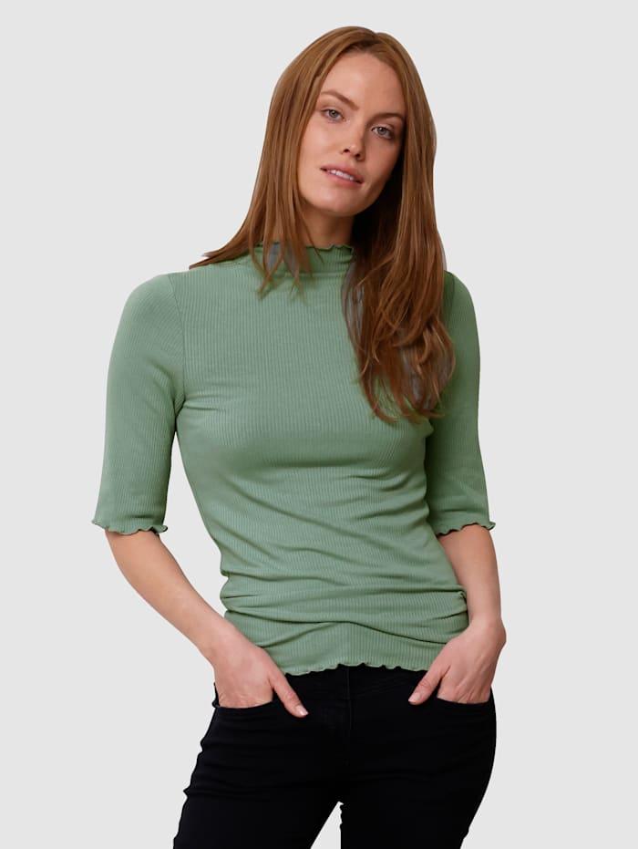 Laura Kent Topp i ribbet materiale, Salviegrønn