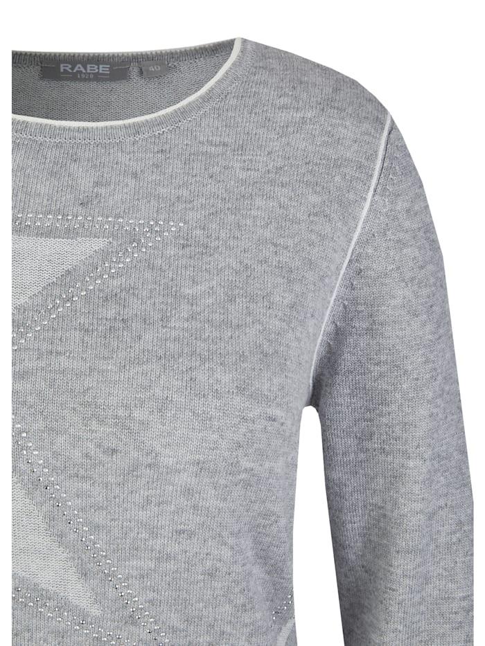 Pullover mit Sternen und Kontrastnähten