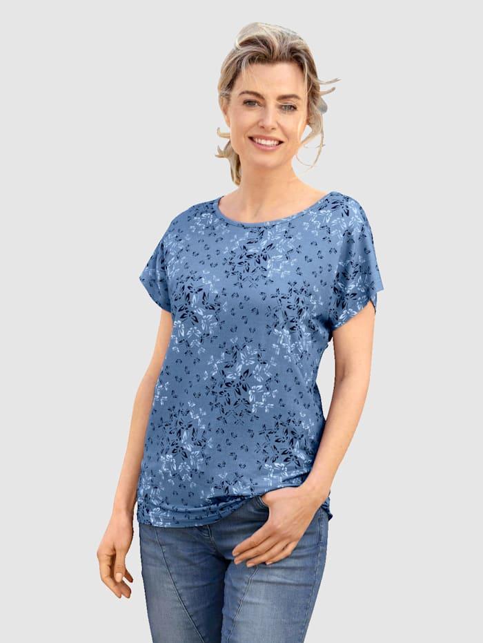 Dress In Shirt mit schönem Schmetterlingsdruck, Türkis