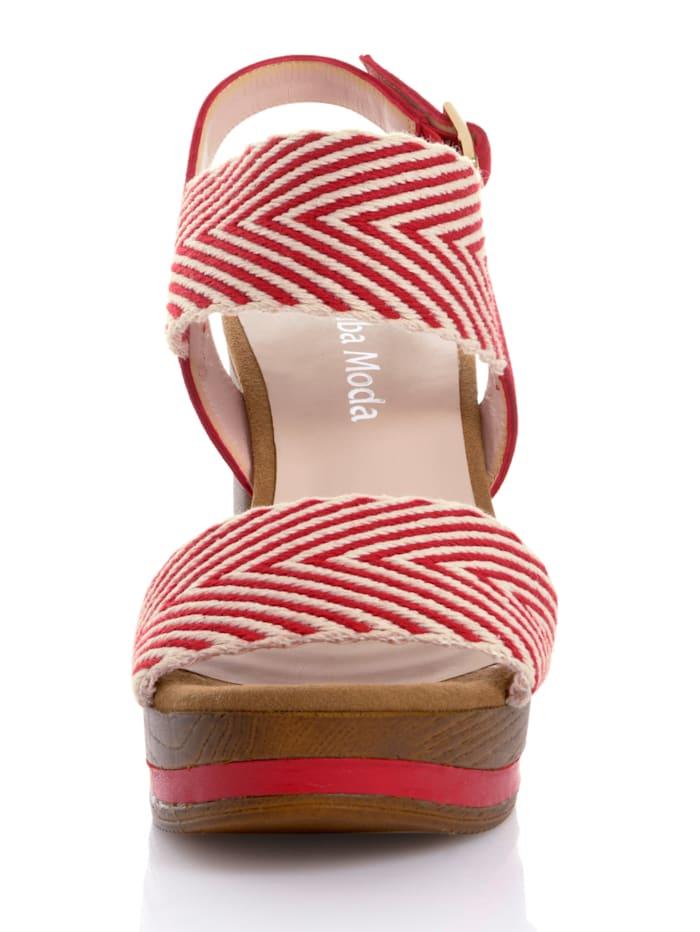 Sandalette mit grafischem Muster