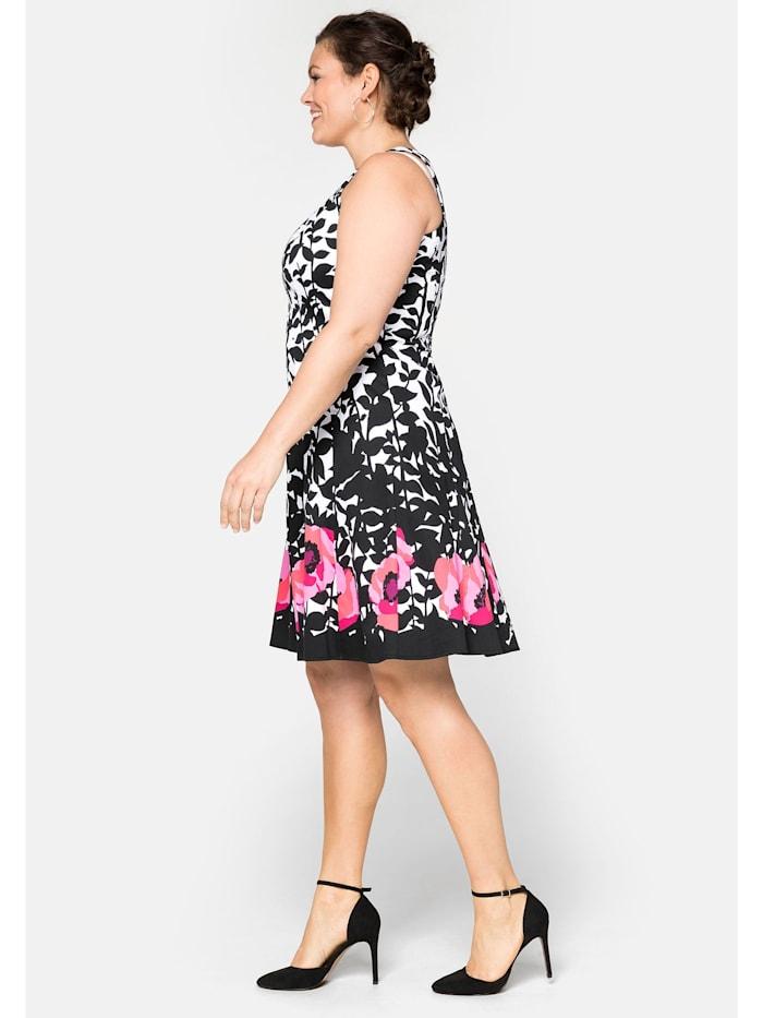 Sheego Bahnenkleid mit floralem  Alloverdruck