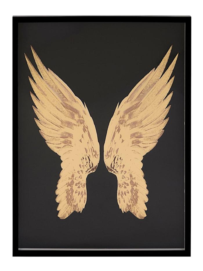IMPRESSIONEN living Bild, Flügel, schwarz/goldfarben