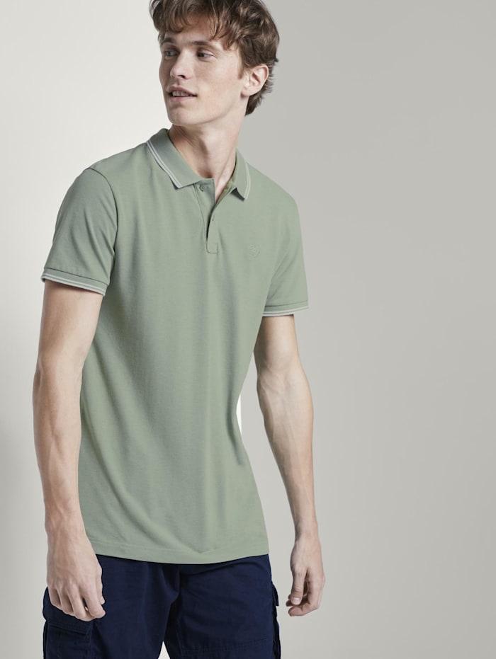 Tom Tailor Denim Strukturiertes Poloshirt, Dusty Leave Green