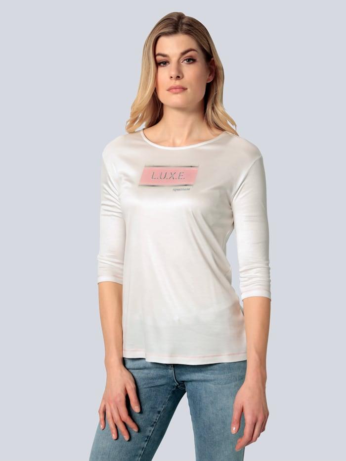SPORTALM T-Shirt mit Frontmotiv, Weiß