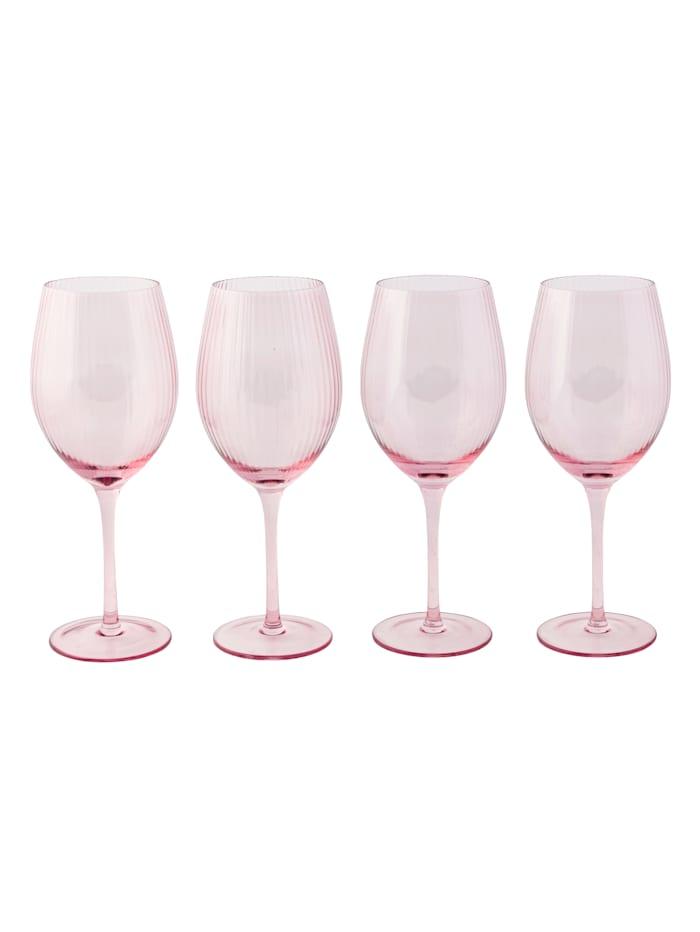 IMPRESSIONEN living Glas-Set, 4-tlg., rosé, Weinglas-Set