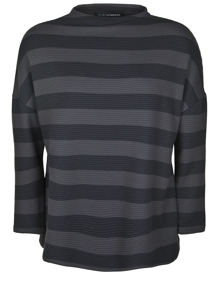 Doris Streich Pullover mit Streifen-Muster, taupe