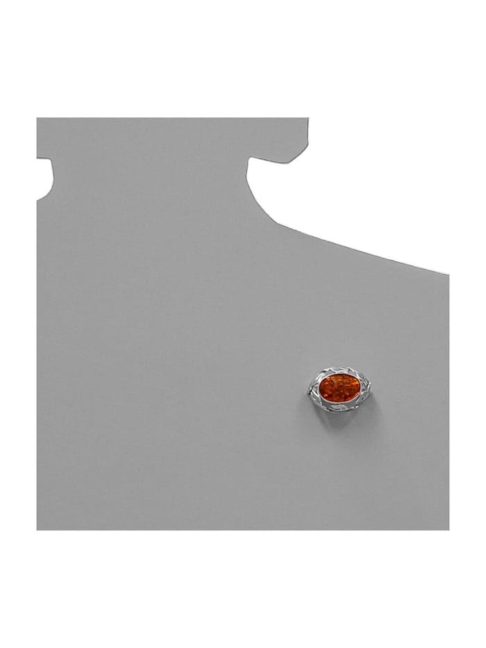 Brosche - Fischland 30x23 mm - Silber 925/000 - Bernstein