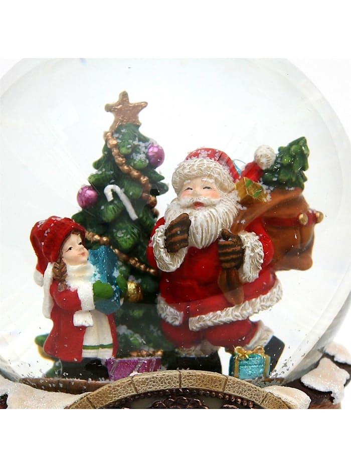 Sigro Schneekugel Santa mit Kind, Bunt