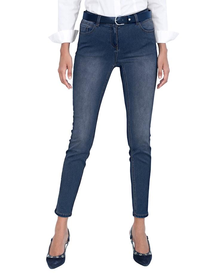 AMY VERMONT Jeans met subtielwashed effect, Dark blue