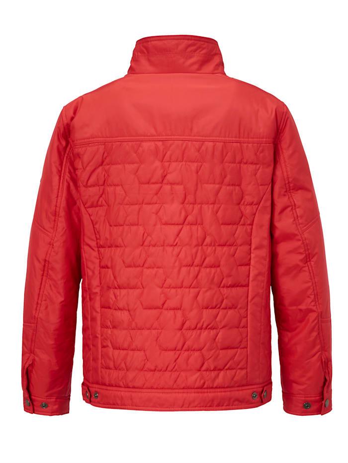 Prešívaná bunda s moderným prešívaným vzorom